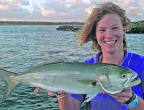 Arlie Mitchell's 60cm tailor and megawatt smile won her this week's $50 Davo's Fish of the Week prize.