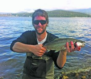 Flyfishing can be testing when chasing whitebait feeding trout, but persistence will pay off.