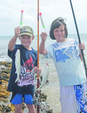 Kids and mullet go together. These fish are great fun and a terrific way to start for the bigger fish of the future.