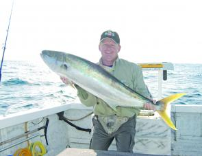 There are some nice kings taking live baits over the inshore reefs this month.