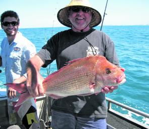 Snapper like this one are quite common during February.