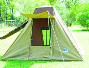 The Freedom Tents' Northern Tourer is a completely weatherproof unit that can sleep up to four in comfort.