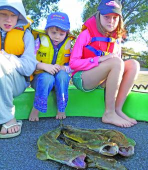 My kids and their flatties. There is not much better than having a fish with the kids on a Sunday afternoon.