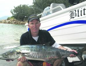 A few Spanish mackerel have hit the northern reefs. This one took a Halco Laser Pro trolled off Scotts Head. There also have been plenty of spotted mackerel up that way.