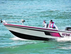 The Skeeter WX is by no means a fast boat, topping out at 50km/h with the Suzuki 70hp four-stroke.