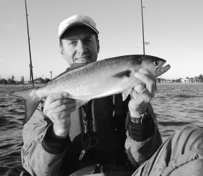 Carl Dubois spun up this prime Winter tailor at the hot water outlet on Botany Bay.