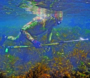 Spearfishing gear has gone hi-tech with camouflage wetsuits and spearguns.