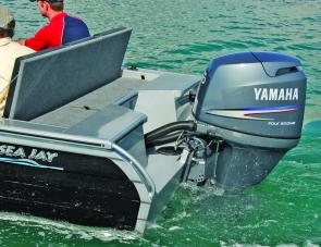 The Ultimate Edge transom is effective, easily supporting four stroke engines.