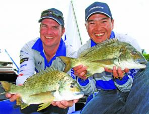 Team Lowrance's day two bag was almost enough to see them go back-to-back at the Brisbane Boat Show BREAM Invitational.