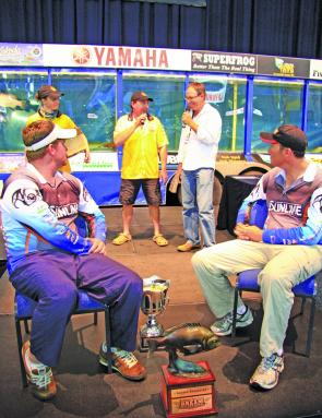 Roderick Walmsley and Sean Pallent of Team Sunline held the hot seat on the final day, securing the win by 480g.