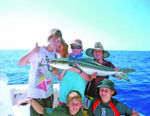 The kids had a great day offshore chasing cobia and other reefies.