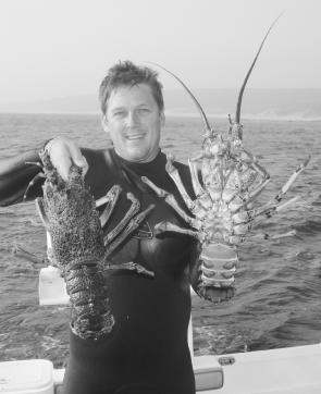 November 16th marks the opening of cray season, a very popular time in Apollo Bay. The author caught these beauties in a previous season.