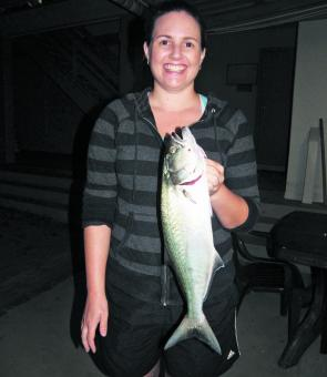 Kate Terry caught her PB tailor late evening. Tailor are still being taken along the beach with best catches coming in from Poyungan and Yidney, and north of Waddy Point towards Ngkala Rocks.