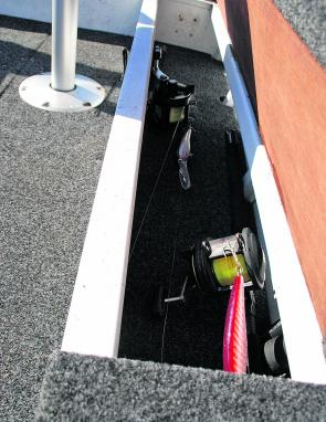 A well-designed and sizable rod locker will keep your rods safe and out of the way.