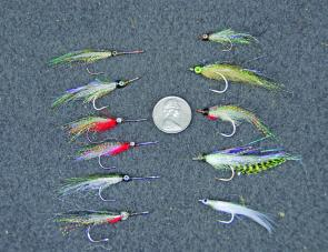 Small flies on strong hooks are required for mac tuna.