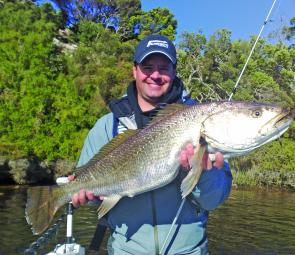 Bill Hartshorne with a stomper 90cm mulloway taken while filming his new TV show.