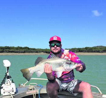 This healthy little saltwater barra is from one of the many creeks throughout Thirsty Sound.