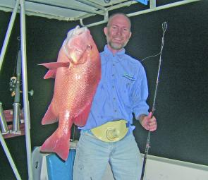 Brian Ross with a good example of the quality red emperor being caught this winter off Cairns.