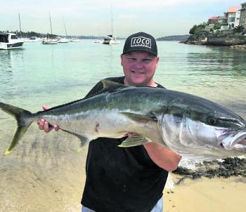 Anthony Ball with an amazing kingfish with a length of 114cm.