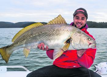 Tim Angus with a solid Hawkesbury mulloway.