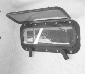 The lockable rectangular portholes are a bit small to adequately ventilate the cabin in the tropics and would be more suited to southern climates.