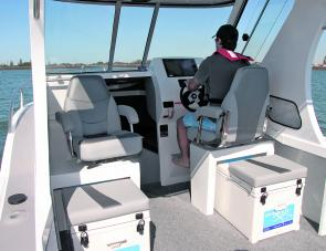 Helm and forward features are prominent in this image, including the large windows with their unrestricted forward and side visibility.