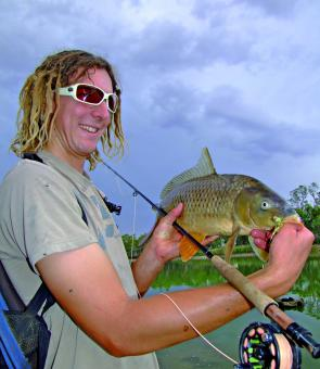 Plenty of anglers have been targeting carp on lure and fly. Sure, these fish are pests but until the cod season reopens they provide anglers with a tidy tussle.
