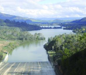 A great view of the Eildon Pondage from the top of the spillway.