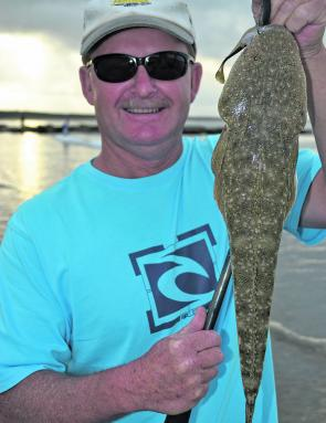 It's fun and rewarding to toss soft plastics in the surf for flatties.