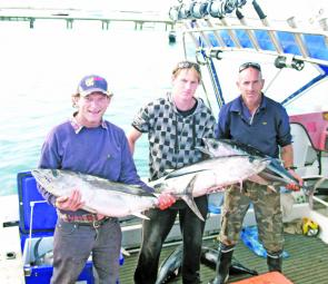 Heath Berandi and crew from Arrarat with a good catch of tuna and albacore.
