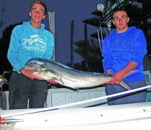 A couple of happy chaps from Melbourne with a quality mahi mahi in their bag of tuna and albacore.