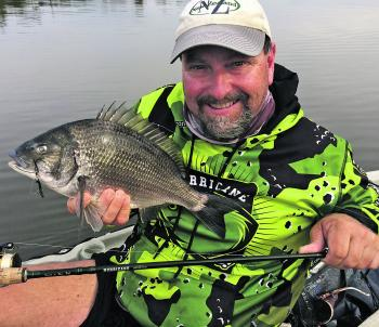 Black blades are a must when fishing for bream over winter.