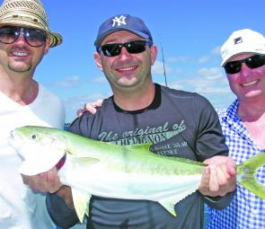 Zelko and the boys with another Botany Bay kingfish.