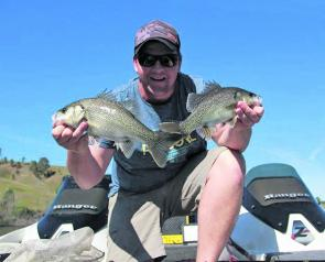 Jarrad Barkley on a perfect day at St Clair with two nice bass that fell to a slow rolled plastic.