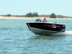 The Clark 485 Dominator gets along briskly with a 7-hp engine.