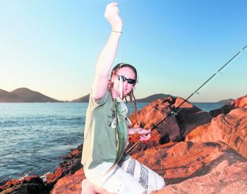 Plenty of anglers have been getting stuck into some quality tailor from Fingal Island.