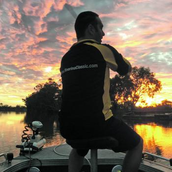 There's nothing like a golden sunset to end a hot day. Anglers attended all three days of the event despite 45°C weather.