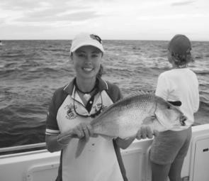 Cat, Tash, Bec, Angie and Summer had a day to remember aboard charter boat Nitro catching kingfish, snapper and morwong at Montague Island.
