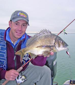 This bream taken in the lower reaches of the Yarra River by Brent Hodges on the ever-reliable Ecogear SX40.