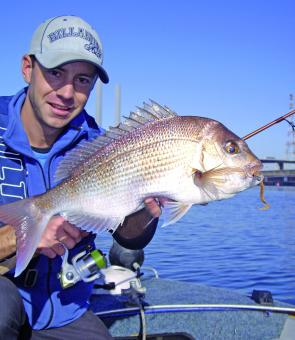 Brent Hodges with a typical Yarra River snapper caught while fishing soft plastics. This is an untapped fishery right in the heart of Melbourne.