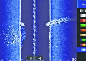 The quality of the Lowrance Structure scan can show you a lot about the bottom. This is the REAL Outer Artificial Reef.