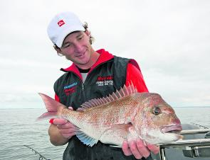 Simon Rinaldi knows all too well the importance of fishing shallow around the Mornington area. (2010 season)