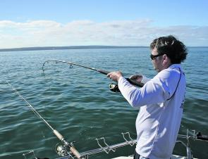 Fishing off Mornington can be a lot of fun in season, deep water in close and lots of snapper.