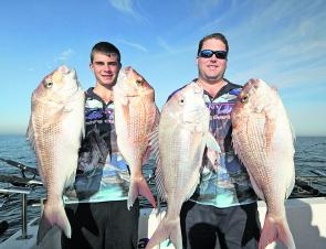 Aleks and Matt from Reel Time charters display some solid reds from Chelsea.