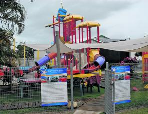 A fun water park is part of the Kurrimine Beach Caravan Park's many attractions.