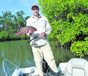 Mangrove jack anyone? Scott Kampe took this fish in the Hull River.
