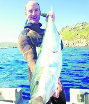 Paul Blackborrow with a great yellowtail kingfish. These green speedsters will be available around southern waters and the Wilsons Promontory area.