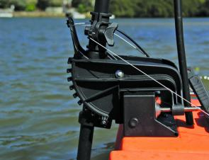 The tilt control cable wiring and mounting bracket allow a tilt setting for all water depths. Launching and landing is easy once you understand the controls.