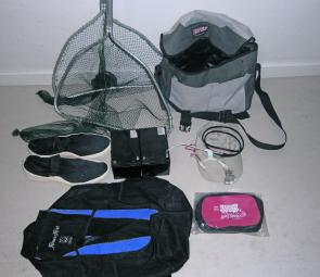 All the equipment you will need for prawning or crabbing on foot.