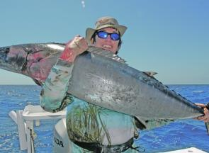 The warm water and abundance of bait mean wahoo are about in numbers this January.